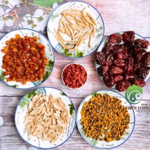Hình ảnh set trà Minh mục dưỡng tâm bao gồm Nhân sâm Cát Lâm hữu cơ
