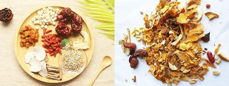 So sánh trực quan canh hầm bổ dưỡng Đông y Thiên Lương và sản phẩm trên thị trường.