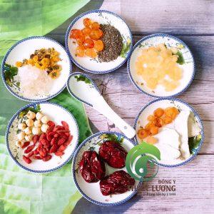 Nguyên liệu nấu chè dưỡng nhan bao gồm Đông dược hữu cơ, chất lượng cao