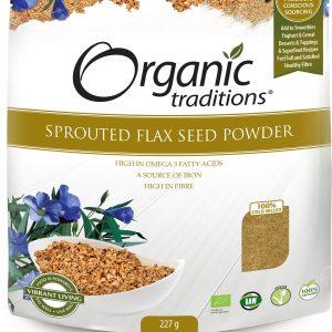 Bột hạt Lanh (Flax Seed) nảy mầm hữu cơ Organic Traditions 225g