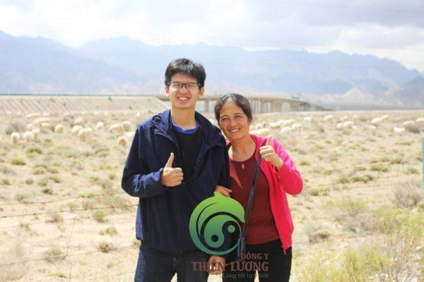 Để tới vườn táo và kỷ tử phải qua hàng ngàn cây số hoang mạc không một bóng người, chỉ có cừu và bò lông dài Tây Tạng
