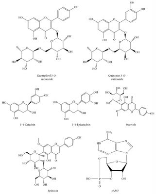 Cấu trúc cho các hợp chất hóa học trong hồng táo có tiềm năng bảo vệ thần kinh.