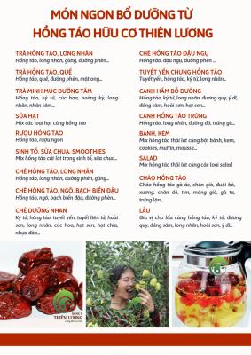Món ngon bổ dưỡng với hồng táo hữu cơ Thiên Lương.