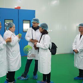 Trao đổi cùng đối tác về quy trình canh tác, thu hoạch kỷ tử hữu cơ theo tiêu chuẩn của Thiên Lương.