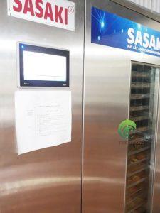 Cam hữu cơ thái lát sấy lạnh bằng máy sấy lạnh thông minh Sasaki tuần hoàn khép kín.